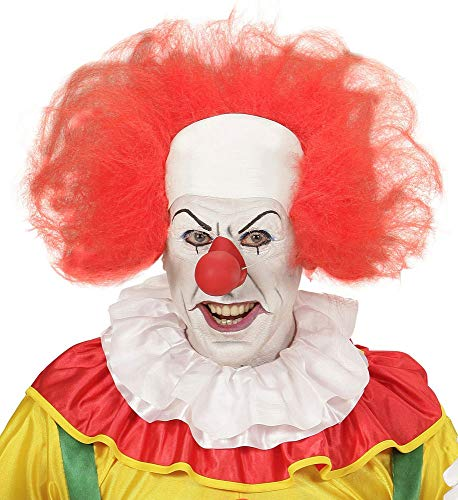 Halloween Freak Show Kostüm - shoperama Clown Perücke mit Stirn-Glatze Rote Haare Horror Killer Verrückter Evil lustig Zirkus Freak Show Halloween