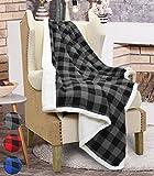 Catalonia Kuscheldecke, Karierte TV-Decke hochwertige Wohndecke Sofadecke 152 cm x 127 cm warm & weich Fleecedecke Tagesdecke