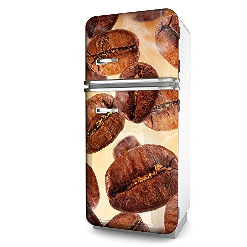 Kühlschrank-Folie Kaffee-Bohnen selbstklebend mehrere größen   Sticker-folie   Klebefolie   Kühlschrank-Aufkleber   Front-folie   Dekoration   Küche   Deko-folie   Möbel-folie   Vinyl-folie