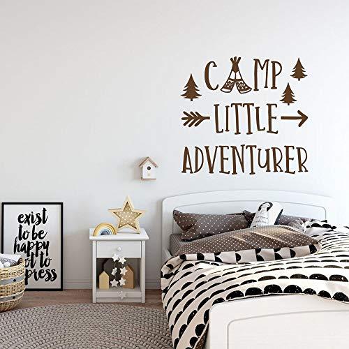 GUUTOP Kinderzimmer Wandaufkleber Abenteuer Kindergarten Vinyl Kunst Aufkleber Dekoration Camp Wandtattoo für Schlafzimmer Jungen Zimmer 45x42 cm