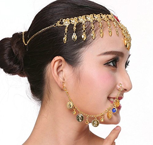 Hxfbyqrjh New Indian Bollywood Bridal Nasenring Piercing Erforderlich,Blue