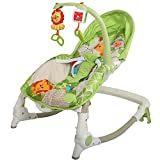 #7: Baybee MyPlay Newborn To Toddler Portable Rocker Chair with Vibration and Music