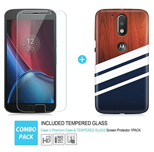 reputable site adb5b 6bd35 Moto G4 Plus Cover/Case + Free Tempered Glass, CASE U Designer Premium  Printed PolyCarbonate Case Back Cover for Motorola Moto G4 Plus