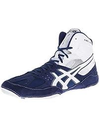 Zapatillas de lucha Asics Cael V6.0 para hombre, azul marino / blanco, 13 M US