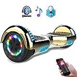 RCB Gyropode Electrique 6.5 Pouces Hoverboard avec lumières Multicolorées Bluetooth Cadeau Enfant