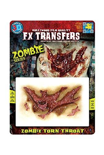 Epic Armoury MW-131305 Zombie Torn Throat 3D FX Transfers Unisex Erwachsene