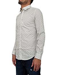 DIESEL - - Homme - Chemise Blanca Print All Over Blanche pour homme