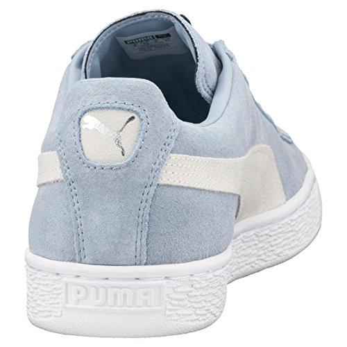 Puma Suede Classic + , Scarpe da Ginnastica Basse Unisex – Adulto Blu (Blue Fog-Puma White 06)