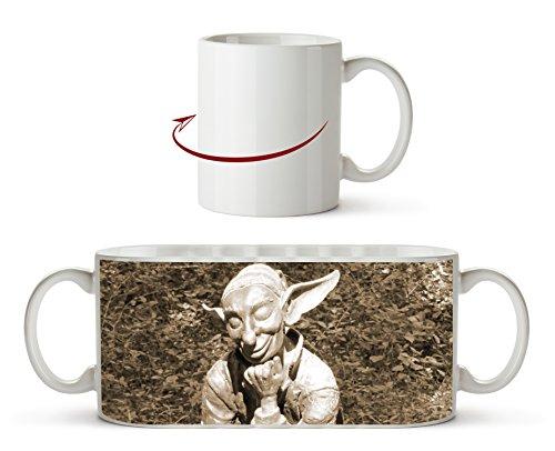 lustige Koboldstatur Effekt: Sepia als Motivetasse 300ml, aus Keramik weiß, wunderbar als...