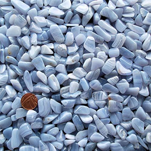 Green cross toad 2 x blue lace agata naturale tumblestone lucidato pietra cristallo