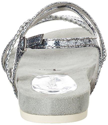Damen STRUCT mit SILVER 28106 Tamaris Sandalen 927 Offene Keilabsatz Silber 1wOqd1A4x