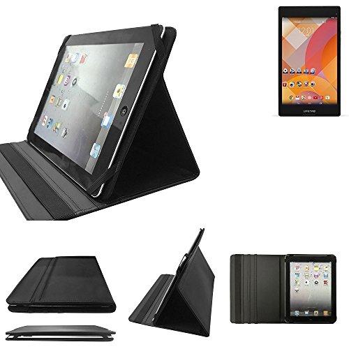 Medion Lifetab S8312 Schutz Hülle Business Case Tablet Schutzhülle Flip Cover Ultra Slim Bookstyle Tasche für Medion Lifetab S8312, schwarz. Kunstleder Qualitätsware - K-S-T