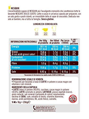 comprare on line NESCAFÉ DOLCE GUSTO NESQUIK Bevanda al gusto di cioccolato 3 confezioni da 16 capsule (48 capsule) prezzo