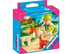 Playmobil - 4674 - Fillette Avec Chevreau