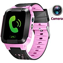 Turnmeon niños SmartWatch GPS, reloj inteligente, SIM llamadas, sos, toque colorido LCD, anti - Lost Smart tracker, Kids Watch Fitness tracker, monitor (Android y iOS app)
