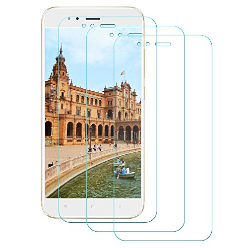 (3 Stück) Cherbell Panzerglas Schutzfolie für Xiaomi Mi A1 / Xiaomi Mi 5X, Displayschutzfolie Displayschutz Panzerglasfolie für Xiaomi Mi 5X / Xiaomi Mi A1 Senisttech 9H Härte Displayschutzfolie,99% Transparenz,3D Touch - 3-xiaomi Handy Mi