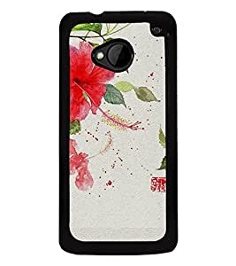 Beautiful Flowers 2D Hard Polycarbonate Designer Back Case Cover for HTC One :: HTC One M7