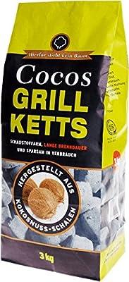Holzkohlewerk Lüneburg Cocos-Grillketts - ökologische Grill Briketts