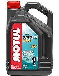 MOTUL - 106615/74 : Aceite lubricante mezcla motores nautica motos agua fueraborda OUTBOARD TECH 2T 5 L