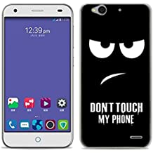 Yrlehoo Para ZTE Blade S6, Cuero funda de silicona suave para ZTE Blade S6 protectora Cover case, donot touch my phone