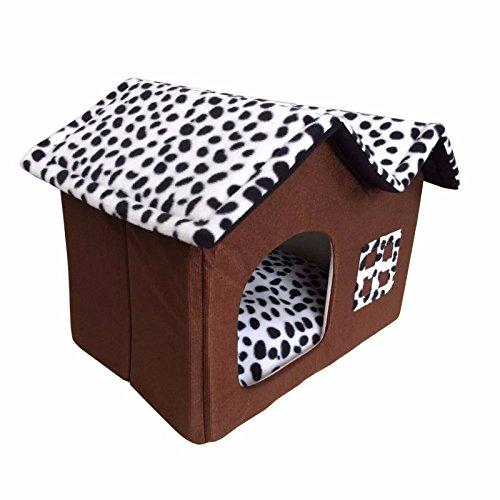 Pet Online Jurten pet Haus abnehmbar Jahreszeiten Hund und Katze villa Hütte, Braun