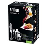 Braun MQ545APERITIF Mixeur Plongeant Acier Inoxydable Gris/Blanc 25 x 17 x 38,1 cm