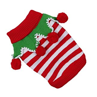doggie style store red and white stripe knitted xmas festive christmas elf dog jumper - 4 sizes Doggie Style Store Red and White Stripe Knitted Xmas Festive Christmas Elf Dog Jumper – 4 Sizes 51oU08ix9kL