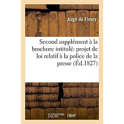 Brochure intitulée Quelques observations sur le projet de loi relatif à la police de la presse