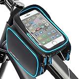 HEAWAA Fahrradtasche Rahmentasche Fahrrad Mountainbike Zubehör Oberrohrtasche und Handytasche Wasserdicht Sensitive Touch-Screen für Alle Fahrradtypen