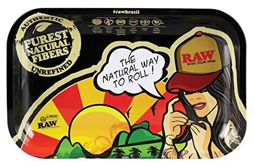 Raw Rolltablet Brazil Klein 27,5 x 17,5 x 2,5cm Drehunterlage Bröselunterlage Rolling Tray -