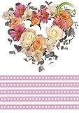 Tortenaufleger Herz mit Rosen 2