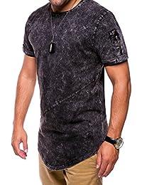 MT Styles Oversize avec Zipper T-Shirt homme C-9043