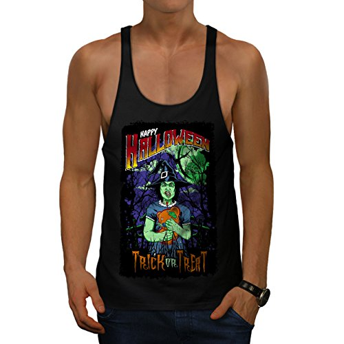 Halloween Hexe Horror Herren M Gym Muskelshirt | - Halloween-gesicht Clown Geist Ripper