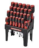 Karx 290416 - Pack de 26 destornilladores, color cromo