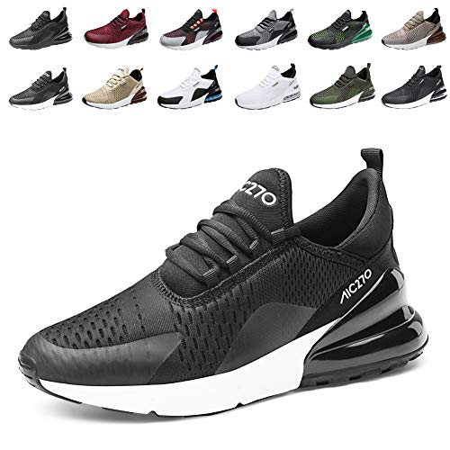 populalar Laufschuhe Herren Damen Turnschuhe Sportschuhe Straßenlaufschuhe Sneaker Atmungsaktiv Trainer für Running Fitness Gym Outdoor Leichte 2SchwarzWeiß 40EU