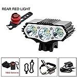 YHTSPORT-Luci-Bici-6000-Lumens-3X-CREE-XM-L-T6-LED-4-modalit-Lampada-Bici-per-Bicicletta-Luce-Anteriore-per-Esterno-Potente-Illuminazione-per-Bici-Luce-Posteriore