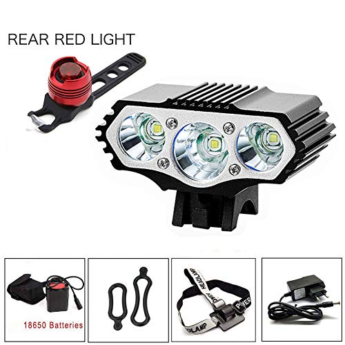 YHTSPORT Eclairage LED Velo,6000 Lumens...