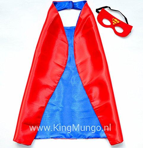 Imagen de superman rojo super héroes de disfraces para niños  cape y máscara  juguetes para niños y niñas  disfraz para niños de 3 a 10 años  para super held fiestas. mungo  king  kmsc020 alternativa