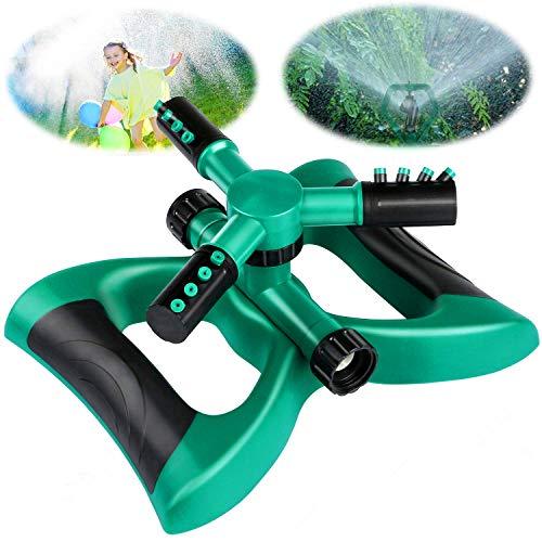 Lawnko Aspersor de jardín, rociador de Agua Giratorio automático de 360° con pulverizador Redondo...