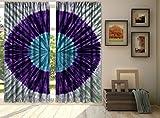 indischen Shibori Marmor Hand Tie Dye Wellen Designer-Vorhänge, Fenster Volant Door Hanging, Schiebevorhang Vorhang, Vorhang für Wohnzimmer Drapes Überwurf 213,4x 203,2cm