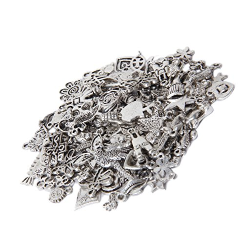 Imported Pack 100 pcs Assorted Shape Alloy Pendant Charm-15010181MG