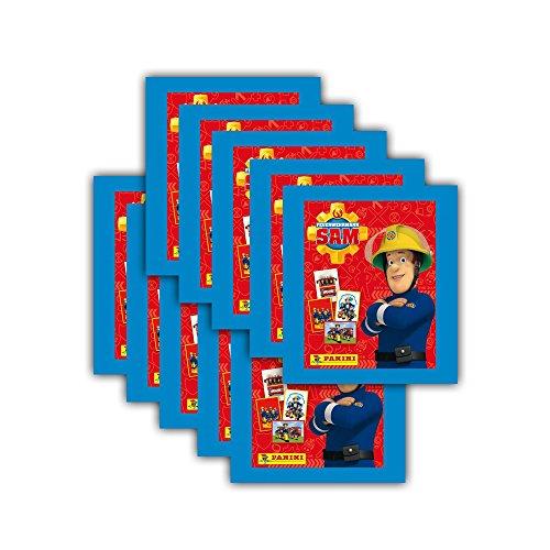 feuerwehrmann sam sticker Panini Sticker - Feuerwehrmann Sam Sammelbilder - 10 Booster Packungen 50 Sticker