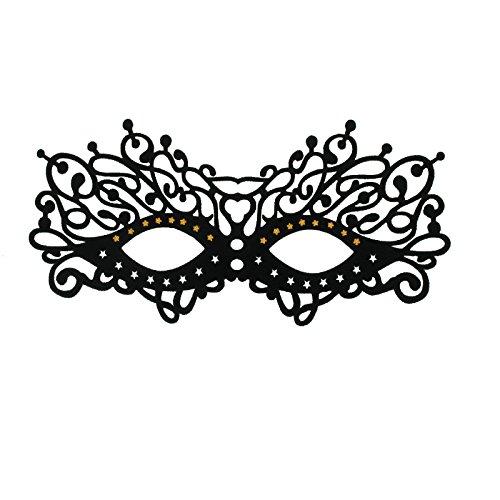 SiaLinda: Maske Candy, selbstklebend. Maske für Brillenträger. Venezianische Maske mit Glitter zum abziehen. Sehr angenehm zu tragen. Mehrfach verwendbar.