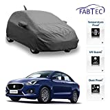 #9: Fabtec Premium Quality Full Sized Triple Stiched Car Body Cover With Mirror & Antenna Pocket, Buckle Lock & Storage Bag For For New Maruti Swift Dzire