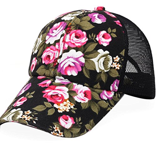 FORH Jungen Mädchen Stickerei Baumwolle Baseball Cap Snapback Hip Hop Flache Hut (Hut Gucci Weißer)