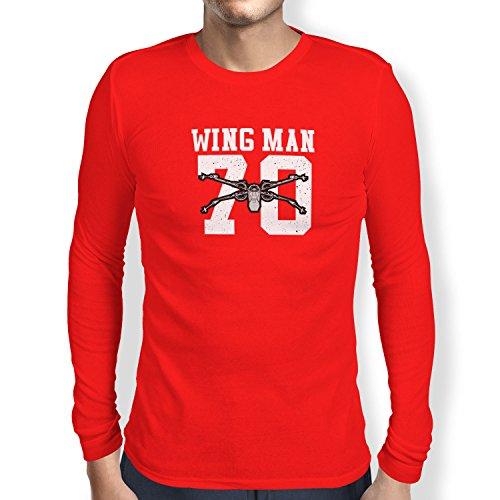 TEXLAB - Wing Man 70 - Herren Langarm T-Shirt Rot