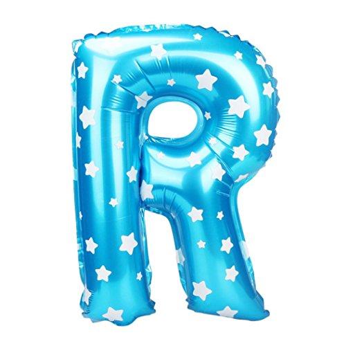 Z Buchstabe Wave Point Folie Ballons Party Ballon Blau (R) (Alphabet Geformte Ballone)