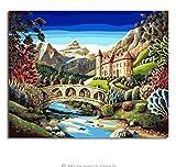 LIWEIXKY Dipinto ad OlioFramelessSeascape By Numbers Disegno Nodulare Piccola Isola Balneare Dipinto a Mano Disegno Immagine su Tela Decorazioni per la casa Arte 50x60cm