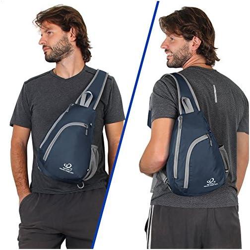 8eb7399970 Waterfly Zaino Monospalla Uomo e Donna, Monospalla Multiuso Zaino Tracolla  Sling Bag per Escursionismo, Trekking, Outdoor
