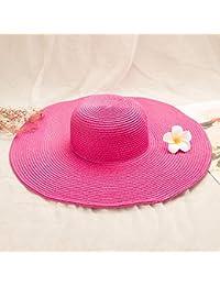 XIAOYANG Summer Visor Donna Outdoor Protezione Solare Face Face Wild  Fashion Cappello di Paglia Cappello da Spiaggia Cappello da… cc5e9b8d97d9